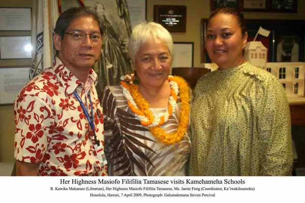 07. Visiting Kamehameha Schools at Library with Librarian and Jamie Fong LR